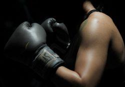 strong women boxer